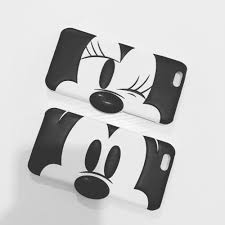 clean emoji minnie mouse and donald duck protective phone case for iphone 6 6