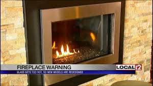 fireplace warning glass gets too new models redesigned youtube