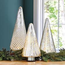 lit mercury glass trees ballard designs
