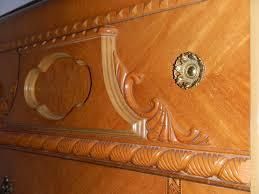 Antique Art Deco Bedroom Furniture by 1947 Birch Art Deco Waterfall Bedroom Set For Sale Antiques Com