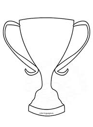 Trophy Coloring Page Winner Cup Shape Coloring Page Cup Coloring Page