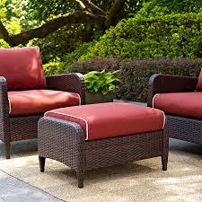 Meridian Patio Furniture by Belham Living Meridian All Weather Wicker Ottoman Table Hayneedle