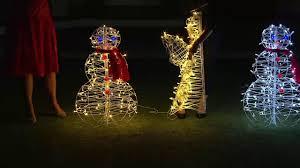 3 u0027 fold flat outdoor led snowman or angel by lori greiner on qvc