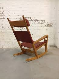 Early American Rocking Chair Ge673 Keyhole Rocking Chair By Hans Wegner For Sale At Pamono