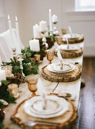 candle runners 25 cozy rustic christmas table décor ideas shelterness