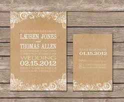 kraft paper wedding invitations i suppose we could buy the supplies and make our own