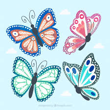 beautiful butterfly collection vector free