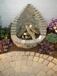how to build a square brick fire pit deck staircase fire pit