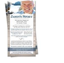 Make Funeral Programs The Story In Memory Of Celebration Of Life Funeral