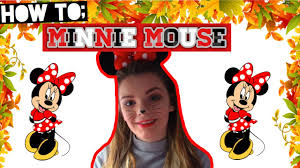 Minnie Mouse Halloween Makeup by Minnie Mouse Makeup Tutorial Halloween 2016 Elle Smith Youtube