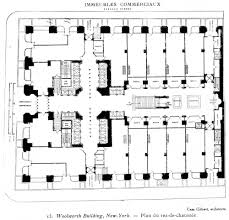 Gothic Church Floor Plan by Ad Classics Woolworth Building Cass Gilbert Archdaily