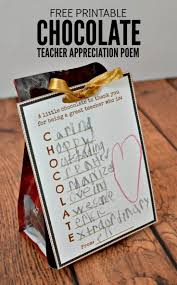 teacher appreciation gift free printable tag for chocolate