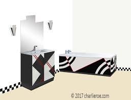deskey art deco cubist painted bathroom vanity unit u0026 bath panels