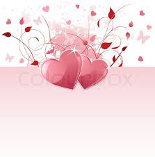 grange vector day background with hearts and flowers