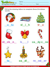 printable missing letters quiz fill missing letters christmas vocabulary worksheet turtle diary