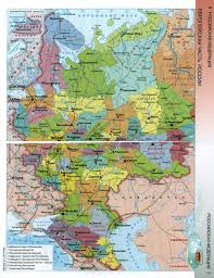 Europe Russia Map Large Detailed Map Of European Part Of Russian Federation In