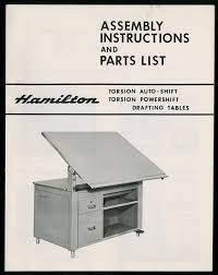 Hamilton Industries Drafting Table The State Assembly And Parts List Hamilton