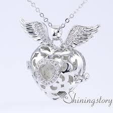 heart necklace wholesale images Cz zircon heart and wings heart locket jewellery lockets locket jpg