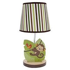 amazon com bedtime originals jungle buddies lamp brown yellow