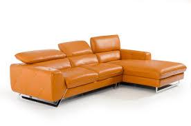 orange leather sectional sofa modern style orange leather sofa with divani casa devon modern