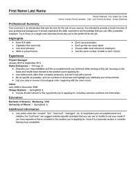 Resume Example Templates by Resume Builder Resume Templates Livecareer
