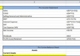 Pro Forma Financial Statements Excel Template Financial Statements Template Pdf Financial Statements Template