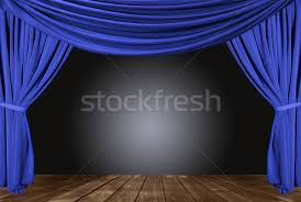 Stage With Curtains Old Fashioned Elegant Theater Stage With Velvet Curtains Stock