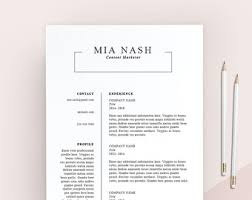 Clean Resume Template Clean Resume Etsy