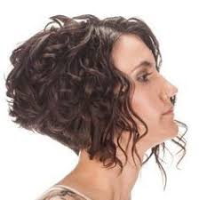 stacked bob haircut pictures curly hair super short curly bob side view a bit short but i like how the
