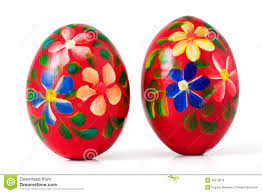 painted wooden easter eggs painted wooden easter eggs clipping path royalty free stock