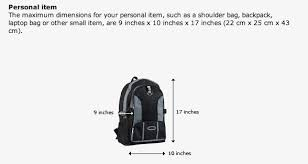 United Airlines Baggage Is A Backpack A Personal Item Tortuga Backpacks Blog