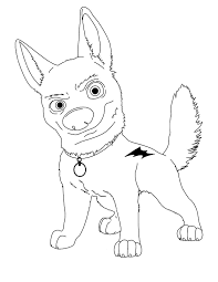 bolt coloring pages