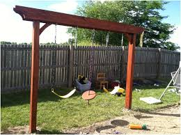 Pergola With Swing by Backyards Compact Pergola Swing Turned Out Great 84 Backyard