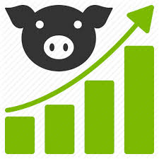 growing chart agriculture analytics data graph growing chart pig report