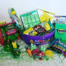 peeps easter basket color themed easter baskets with marshmallow peeps