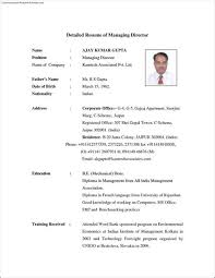 Legal Resume Sample India Detailed Resume Example Format Of Resume In Word Customizable