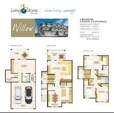 Willow Floor Plan by Floor Plans Living Stone Townhomes