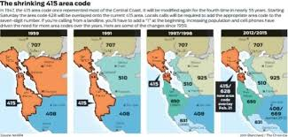 us area codes 408 415 meet 628 new s f area code debuts saturday sfgate