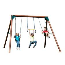 Lowes Swing Playset Add A Touch Of Fun To Your Backyard With Home Depot