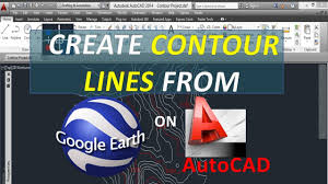 create contour lines from google earth on autocad free open