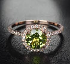 peridot engagement ring show me your gold with peridot green stones weddingbee