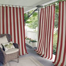 Red And White Striped Curtain Outdoor Curtains Porch Curtains Porch Enclosure