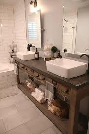 Rustic Bathroom Vanities For Vessel Sinks Rustic Bathroom Double Vanity Interior Design