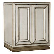 Smoked Mirrored Bedroom Furniture Hooker Furniture Sanctuary 2 Door Mirrored Nightstand Visage