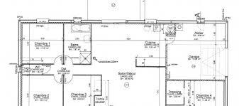 plan de maison 4 chambres plain pied maison de plain pied réalisation maison laure constructeur
