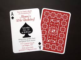 30th Birthday Invitation Cards Playing Card Invitations Festival Tech Com
