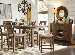 gray extendable counter height dining room set