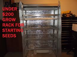 under 200 grow rack for indoor seed starting youtube