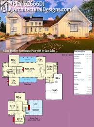House Plans With Inlaw Apartment Plan 62666dj Five Bedroom Modern Farmhouse With In Law Suite