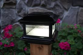 Solar Powered Fence Lights - colonial solar powered fence post cap 2 count u2013 solar us shop